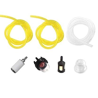 AISEN-3x-Benzinschlauch-Kraftstoffschlauch-jeder-30cm-fr-Motorsge-Freischneider-Rasentrimmer-Stihl-Husqvarna-Partner-McCulloch-Echo-mit-Kraftstofffilter-Benzinpumpe
