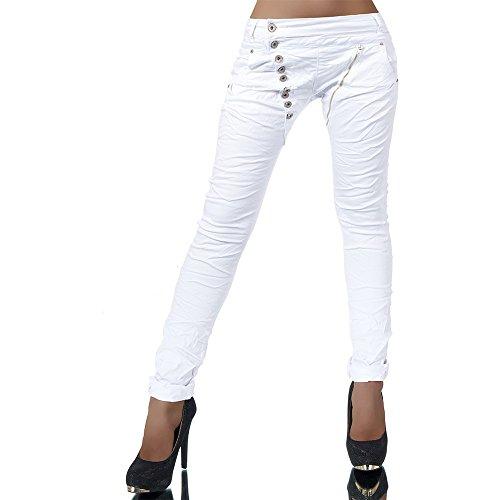 L368 Damen Jeans Hose Boyfriend Damenjeans Harem Baggy Chino Haremshose