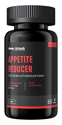 Body Attack Appetite Reducer Men, Kapseln mit Glucomannan zur Unterstützung der Gewichtsreduktion (1x 60 Caps)