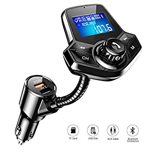 FM-Transmitter-Auto-Bluetooth-AINOPE-Fast-QC30-Adapter-Bluetooth-Transmitter-Fr-Auto-Aktualisierung-Bluetooth-V42-FM-Transmitter-mit-144-Grobild-fr-U-DiskTF-KarteAUX-Eingang