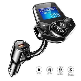 FM-Transmitter-Auto-Bluetooth-AINOPE-Fast-QC30-Adapter-Bluetooth-Transmitter-Fr-Auto-Aktualisierung-Bluetooth-V42-FM-Transmitter-mit-144-Grobild-fr-U-DiskTF-KarteAUX-Eingang