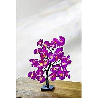 LED-Baum-mit-lila-Orchideenblten-Lichterbaum-Leuchtbaum