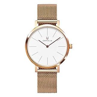 ORPHELIA-Damen-Analog-Armbanduhr-Felicity-mit-Mesh-Edelstahl-Armband