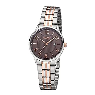 REGENT-Damen-Analog-Quarz-Uhr-mit-Edelstahl-Armband-12230684
