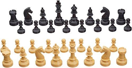 Weiblespiele-01012-Schachfiguren-Kunststoff-72-mm