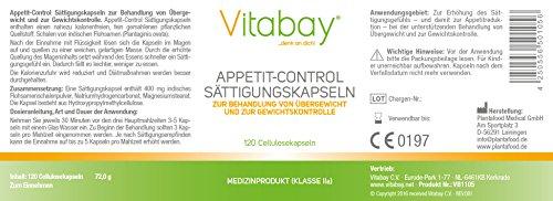 Appetit-Control – Sättigungskapseln – 120 Cellulosekapseln