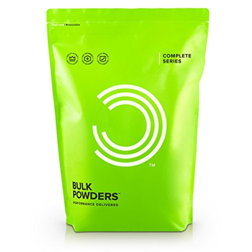 Bulk Powders Complete Veganmix – Vegane Proteinmischung – Protein Shake Pulver- Erdberre, 1er Pack(1 x 500 g)