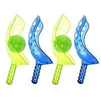 FLAMEER-Scoop-Ball-Fangspiel-Geschicklichkeit-Fangballspiel-Sport-Spielzeug-fr-4-Spieler