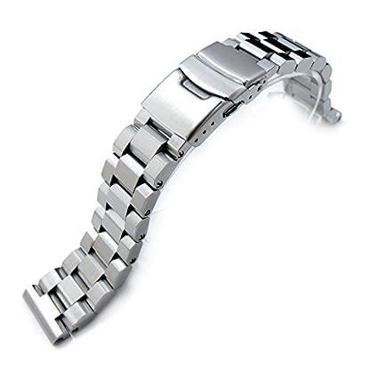 20-mm-hexad-Oyster-316L-Edelstahl-Armbanduhr-Band-gerade-Ende-Lug-Diver-Schliee-gebrstet