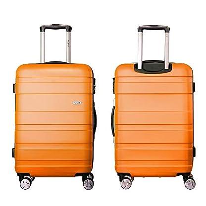 Hartschale-Trolley-Koffer-Reisekoffer-Zwillingsrollen-Reisekoffer-mit-Zahlenschloss-Handgepck-mit-4-Doppel-Rollen-MLXL-von-Flieks