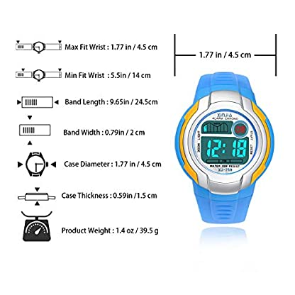 Jungen-Digitaluhren-Kinder-Uhr-Mdchen-Jungenuhr-Wasserdicht-Sportuhren-Digital-Armbanduhr-Uhr-mit-WeckerStoppuhr-Datum-Woche-und-Kalender