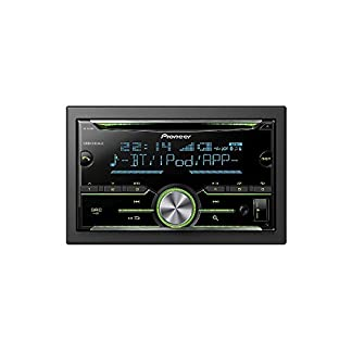 Auto-Radio-CD-Receiver-Pioneer-mit-USB-CD-AUX-Bluetooth-fr-Ford-Mustang-V-2005-2009-incl-Einbauset-schwarz