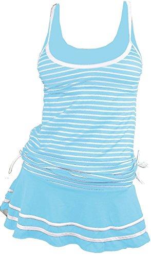 Summer Mae Damen Tankini Retro Streifen Badekleider