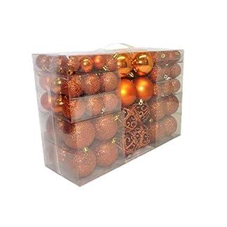 Geschenkestadl-100-teilig-Weihnachtskugel-Christbaumschmuck-bis–6-cm-Orange-Kupfer