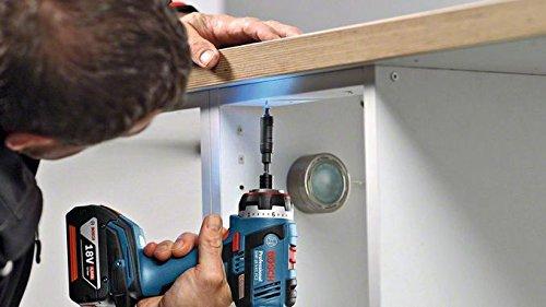 Bosch-06019E1104-FC2-BohrmaschineAkku-Bohrschrauber-GSR-EC-FC-2-FlexiClick-5-in-1-System-mit-Bitaufnahme-Bohrfutter-Winkel-Exzenter-und-Bohrhammeraufsatz-18-V-5-Ah-blau