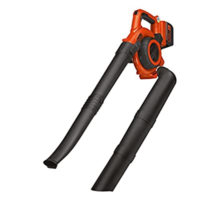 Black-Decker-2-in-1-36V-20Ah-PowerSelect-Akku-Laubsauger-integrierter-Hcksler