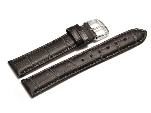 Uhrenarmband-Orig-Watchband-Berlin-Kroko-Prgung-dunkelgrau-20mm