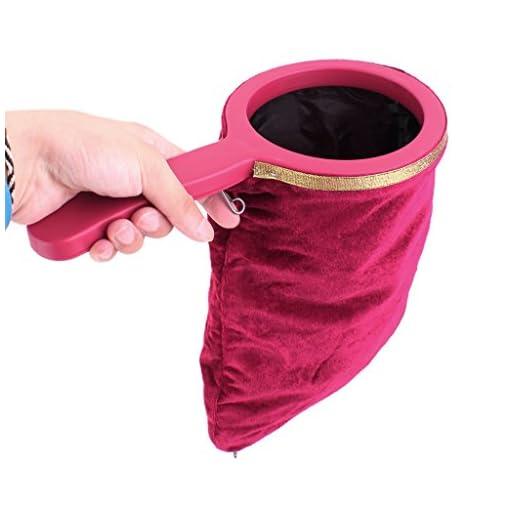 perfk-1-Pc-Magische-Tasche-Zauberbeutel-mit-Tragegriff-Reiverschluss-fr-Zaubertricks-Magie-Spielzeug-Weinrot