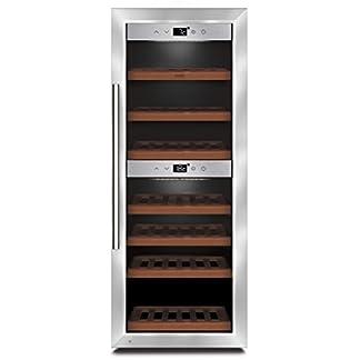 CASO-WineComfort-38-Design-Weinkhlschrank-fr-bis-zu-38-Flaschen-bis-zu-310-mm-Hhe-zwei-Temperaturzonen-5-20C-Getrnkekhlschrank-Energieklasse-A