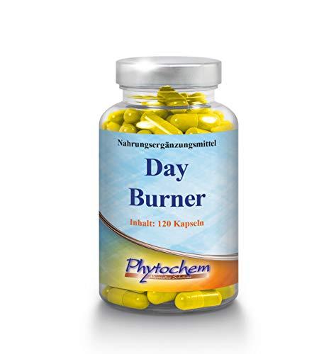 Phytochem DAY BURNER effektiver Fatburner für die Einnahme am Tag, 120 Kapseln