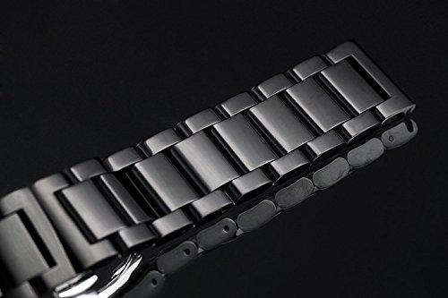 19mm-auswechselbare-Metall-Uhrenbnder-robuste-massive-Edelstahl-in-schwarz-mit-abnehmbaren-Links