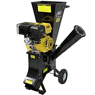 Helo-HBS-13102-Benzin-Gartenhcksler-mit-13-PS-Benzin-Motor-22-Messer-max-26-mh-Schredder-Leistung-Garten-Hcksler-fr-ste-oder-Laub-mit-groem-Bgelgriff-und-stabilem-Fahrwerk-auf-Rollen