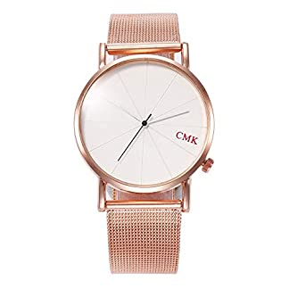 Damen-Armbanduhr-Mode-lssig-Uhr-Edelstahl-analog-analoge-Armband-Javpoo