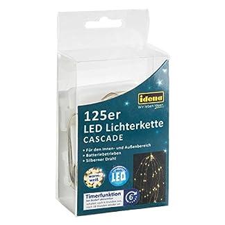 Idena-31352-LED-Lichterkette-Cascade-mit-125-LED-in-warm-wei-mit-6-Stunden-Timer-Funktion-Batterie-betrieben-fr-Partys-Weihnachten-Deko-Hochzeit-als-Stimmungslicht-ca-17-m