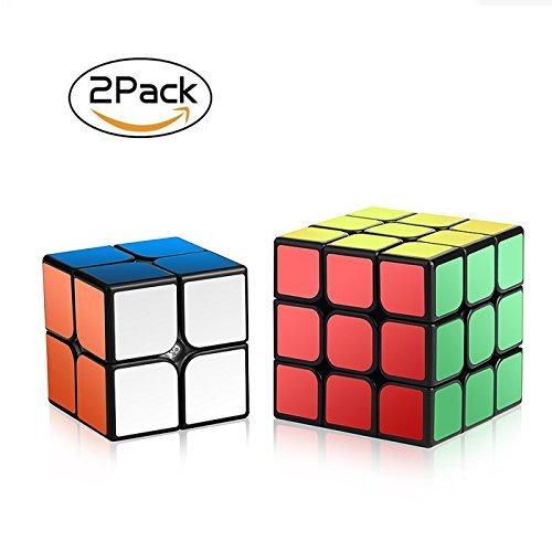 Roxenda-Zauberwrfel-Set-Zauberwrfeln-Serie-von-2x2x2-3x3x3-Speed-Cube-Geschwindigkeitswrfel-Gltten-Zauberwrfeln