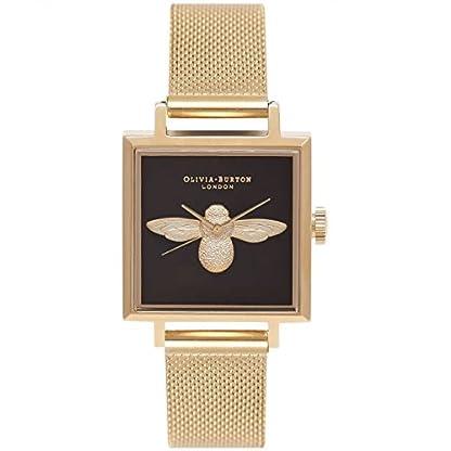 Olivia-Burton-Damen-Analog-Quarz-Uhr-mit-Edelstahl-Armband-OB16AM90