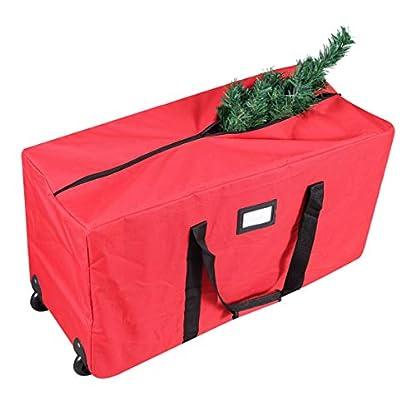Primode-Aufbewahrungstasche-fr-den-Weihnachtsbaum-gro-robust-56-cm-hoch-x-41-cm-breit-x-127-cm-lang-mit-2-Rdern-und-Griffen-fr-bis-zu-18-m-hoch-zerlegter-Baum-rot