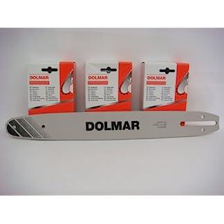 Dolmar-3-Ketten-1-Schiene-Set-40cm-fr-PS34-PS39-PS45-ES-173A-ES-163A-NEU-09240-cm