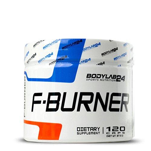 Bodylab24 F-Burner   Kapseln  , hochdosierte Fatburner Kapseln mit Koffein, Cayennepfeffer, grünem Tee Extrakt, für Diät und Definitionsphase, 120 Kapseln