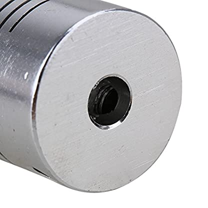 Yibuy-2-x-d19l25-Motor-Encoder-Kupplung-5-mm-x-5-mm-CNC-Elastic-Stepper-Flexibler-Schaft