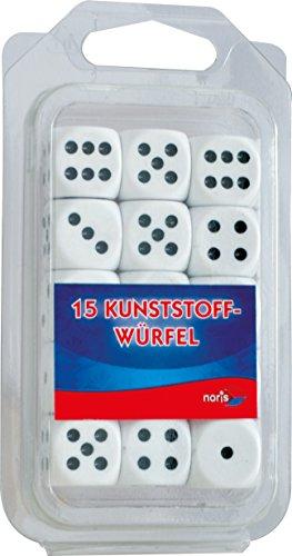 Noris-Spiele-606154361-15-weie-Kunststoff-Augenwrfel
