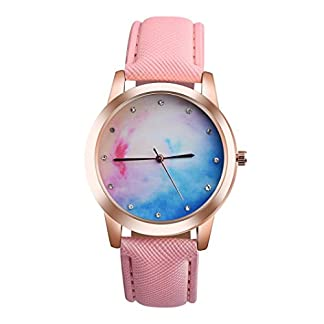 Valentinstag-Uhren-DELLIN-Retro-Rainbow-Design-Lederband-Analog-Alloy-Quarz-Armbanduhr