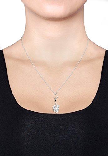 Elli Damen Charm Baby füsse 925 Sterling Silber Swarovski Kristalle