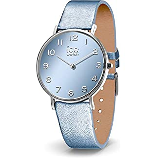 Ice-Watch-Damen-Analog-Quarz-Uhr-mit-Leder-Armband-014436