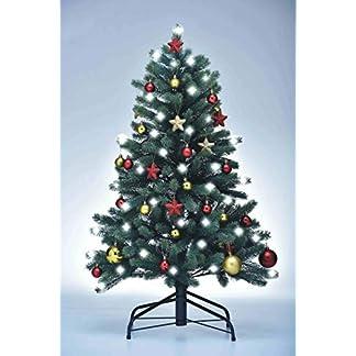 Xenotec-PE-Weihnachtsbaum-knstlich-ca-120-cm-hoch-mit-118-LED-warmweies-Licht-mit-Baumdekoration-RotGold