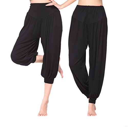 BeautyWill Haremshose Jogginghose Yoga Pilates Hosen Freizeithosen Weiche Modal Hose für Damen