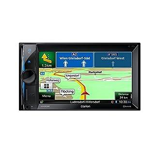 Clarion-NX302E-2-DIN-Multimedia-Radio-mit-DVD-Navigation-157-cm-62-Zoll-Display-Bluetooth-schwarz