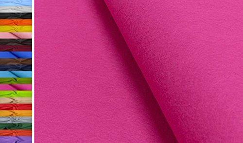 StoffBook 1MM DICKE UNIVERSELLE FILZSTOFFE -90CM STOFF STOFFE, D499 (Pink)