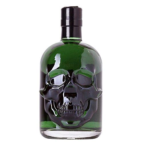 Grner-Absinth-Hamlet-Classic-Erhhter-WermutThujongehalt-Natrliche-grne-Farbe-ohne-knstlichen-Farbstoff-TotenkopfSkull-Flasche-69-Alkohol-05-Liter