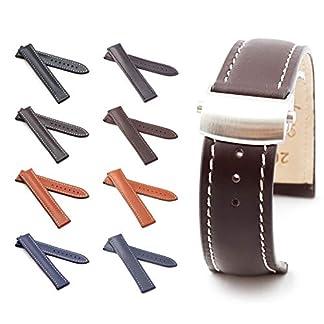 BOB-Herren-Faltschlieband-Marino-Kalb-kompatibel-Omega-20-mm