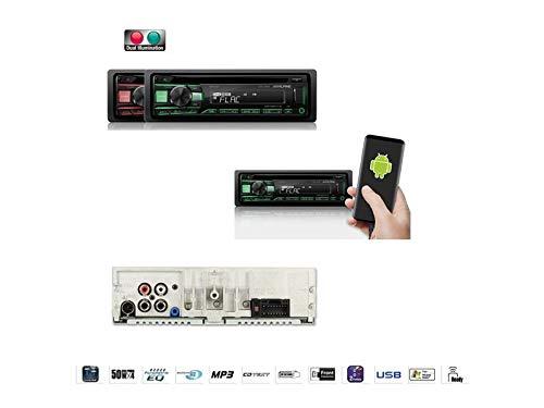 Alpine-CDE-201R-1-DIN-Autoradio-CD-USB-AUX-fr-Kia-Sportage-II-KMJES-2005-2008-schwarz