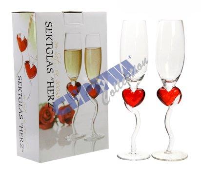 Sektglas-Herz-2er-Set
