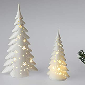 Formano-Deko-Baum-mit-LED-Licht-25-cm-aus-wei-glasiertem-Porzellan-mit-Durchbruch-Weihnachtsbaum-zum-dekorieren-ksntlicher-Christbaum-mit-stimmungsvollem-Licht