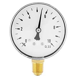 Luft-l-Wasser-Manometer-14-Zoll-NPT-0-10-Bar-Manometer-fr-Seitenmontage