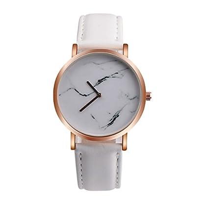 Souarts-Damen-Armbanduhr-Einfach-Stil-Chic-Marmor-Muster-dekor-Studentenuhr-Analoge-Quarz-Uhr-mit-Batterie-Wei