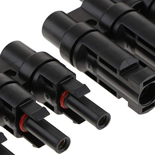 MagiDeal-1-Paar-MFM-5-MC4-T-Stecker-Solarstecker-Solar-Panel-Buchse-Connector-Verzweigungsstecker